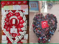 Eskil Cumhuriyet ilk-ortaokulu öğrencilerinden asker abilerine anlamlı hediye