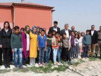 Eskil Güneşli Ortaokulu'nda Fidan Dikme Töreni Gerçekleşti