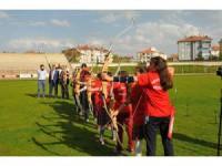 Akşehir Spor Olimpik Okçuluk Takımı hazırlıklarını sürdürüyor