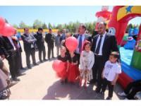 Beyşehir Belediyesinden bayram hediyesi, şişme oyun parkı eğlencesi