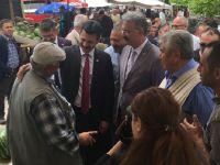 CHP Aksaray milletvekili adayları Sarıyahşi'ye çıkarma yaptı