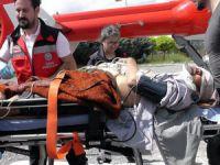 Otomobil takla attı: 2'si ağır 5 yaralı