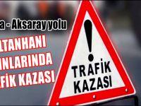 Aksaray Konya yolu Sultanhanı mevkiinde kaza 3 yaralı