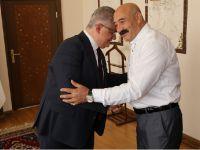 Gazetecilerden Vali Pekmez ile Emniyet Müdürü Karabağ'a ziyaret
