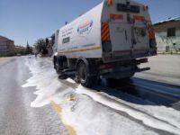 Ereğli'de caddeler sabunlu su ile yıkanıyor