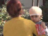 Yok böyle bir olay! 3 yaşındaki çocuk kafasına düşen taş sonucu yaşayacak!