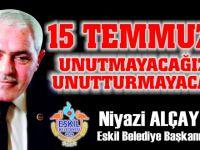 """Alçay, """"Türk milletinin iradesine kastedenler, her zaman yenilmeye mahkumdur"""""""