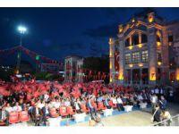 Aksaray'da 15 Temmuz darbe girişimi lanetlendi, şehitler anıldı