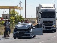 Bozcamahmut'ta trafik kazası: 2 yaralı