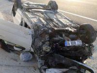 Aksaray'da otomobil takla attı: 5'i çocuk 9 yaralı