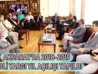 Aksaray'da Adli Yıl Açılışı Gerçekleşti