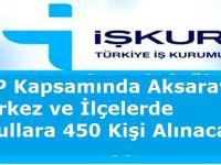 TYP Kapsamında Aksaray Merkez ve İlçelerde Okullara 450 Kişi Alınacak