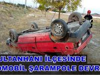 Sultanhanı'nda otomobilin şarampole devrildi: 1'i ağır 7 yaralı