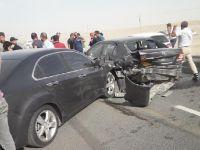 Aksaray-Konya karayolunda zincirleme trafik kazası: Yol trafiğe kapandı, 4 yaralı