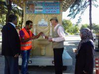 Ereğli Belediyesinden süt ikramı