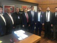 Cengiz Aydoğdu, Aksaray Müteahhitler Birliği Yönetimini Kabul Etti