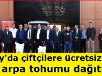 Aksaray'da çiftçilere ücretsiz olarak 40 ton arpa tohumu dağıtıldı