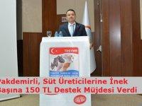 Bakan Pakdemirli, Süt Üreticilerine İnek Başına 150 TL Destek Müjdesi Verdi