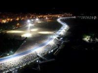 Beyşehir Gölü sahil şeridi aydınlatıldı