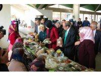 Meram'ın kadın üreticileri doğal ürünleriyle Melikşah Pazarı'nda