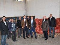 Aksaray'da Soğan Satışı Yapılan Yerlerde Stok Kontrolü Yapıldı