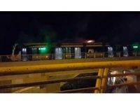 Isınan klima motoru tramvay vagonunda yangına neden oldu