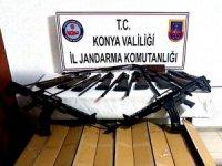 Konya'da 73 adet kaçak av tüfeği ele geçirildi