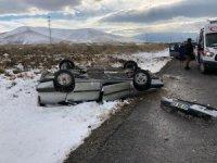 Kontrolden çıkan otomobil takla attı: 2 yaralı