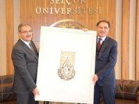 Kamu Başdenetçisi Şeref Malkoç'tan Rektör Şahin'e ziyaret