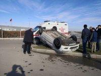 Aksaray-Konya Yolunda Otomobil Takla Attı: 1 Yaralı