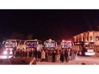 Akşehirli öğrenciler Çanakkale'ye uğurlandı
