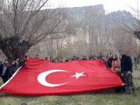 Aksaray'da Çanakkale şehitlerini anma yürüyüşü