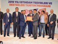 Eskil Karayolu Taşıyıcılar Kooperatifi Plaketle Ödüllendirildi