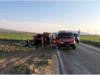 Konya'da patates yüklü tır devrildi: 1 yaralı