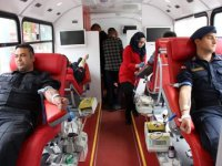 Eskil'de kan bağışı kampanyasına yoğun ilgi