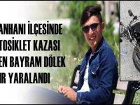 Sultanhanı'nda motosiklet kazasında 18 yaşındaki genç ağır yaralandı