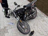 Aksaray'da otomobil ile motosiklet çarpıştı: 1 yaralı