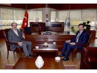 Başkan Altay'dan Hasan Kılca'ya ziyaret
