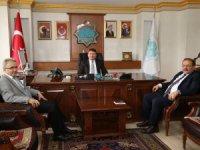 Cumhuriyet Başsavcısı ve Ağır Ceza Mahkemesi Başkanından Belediye Başkanı Evren Dinçer'e hayırlı olsun ziyareti