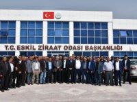 """Eskil'de önemli toplantı, """"Kanola ekimine devlet desteği"""""""
