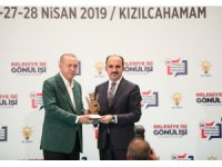 Erdoğan'dan, Başkan Altay'a en yüksek oy ödülü