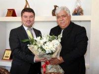 İsrafil Aktürk ile müdürlerinden Dinçer'e ziyaret