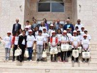 Başkan özkök Tarım Kampı'na katılan öğrencileri kabul etti