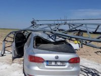 Eskil'de Köpeğe çarpmamak için manevra yapan sürücüyü kaza yaptı