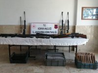 Konya'da silah deposuna dönüştürülen eve jandarma baskını