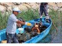 Beyşehir Gölü'nde sinekle mücadele çalışması
