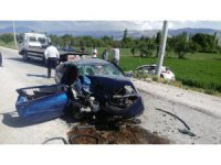 Ereğli'de iki otomobil çarpıştı:1 ölü, 3 yaralı