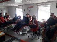 Beyşehir'de jandarmadan kan bağışı