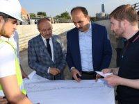Başkan Altay, Yeni YHT Garı Alt Geçidi inşaatını inceledi