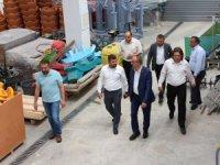 Başkan Kavuş, fidanlık ve seralarda incelemelerde bulundu